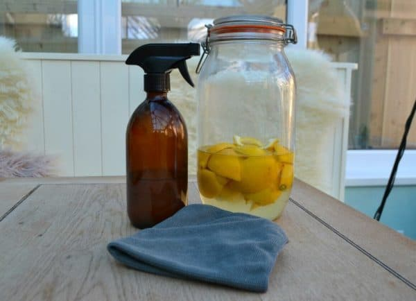 Zero waste all-purpose home cleaning spray with lemons