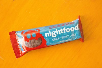 Night Food midnight chocolate crunch bar from the Daily Goodie Box