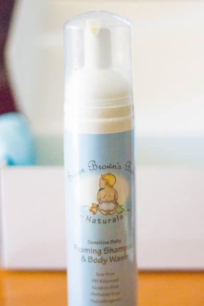 Susan Browns Baby foaming shampoo from the Daily Goodie Box