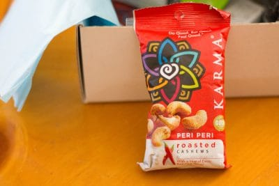 Karma Nuts - Peri Peri Roasted Cashews - from the Daily Goodie Box