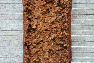 grain-free butternut squash bread on a cooling rack