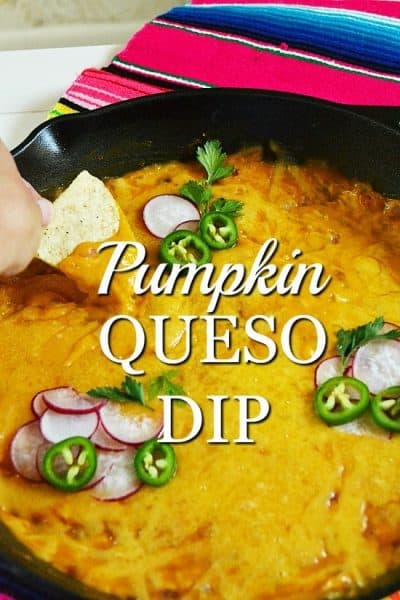 Healthy pumpkin queso dip with radishes and jalapeno