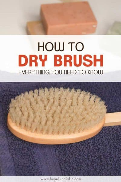 Dry boar bristle brush with text overlay- how to dry brush, everything you need to know