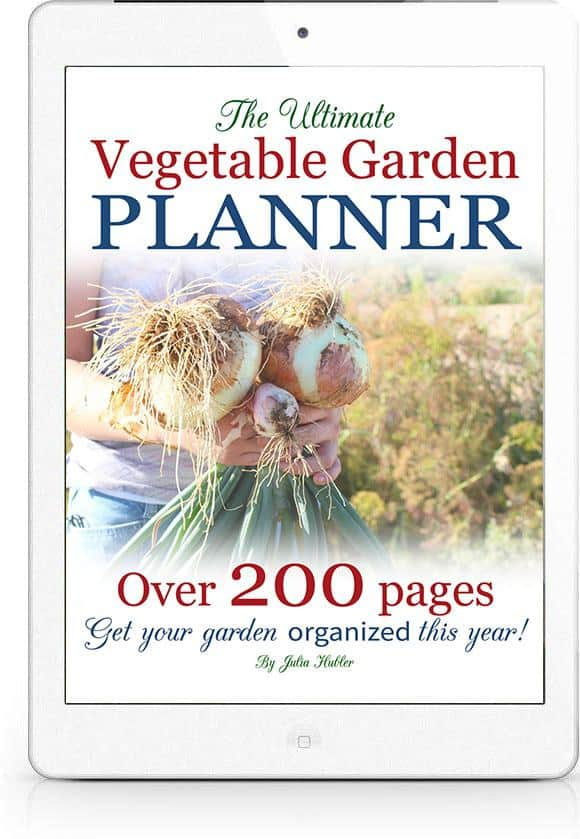 Ultimate vegetable garden planner title page on an ipad