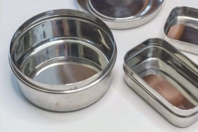 Stainless steel tins for zero waste food storage