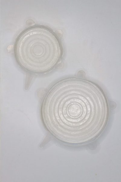 Stretchy low waste silicone lids