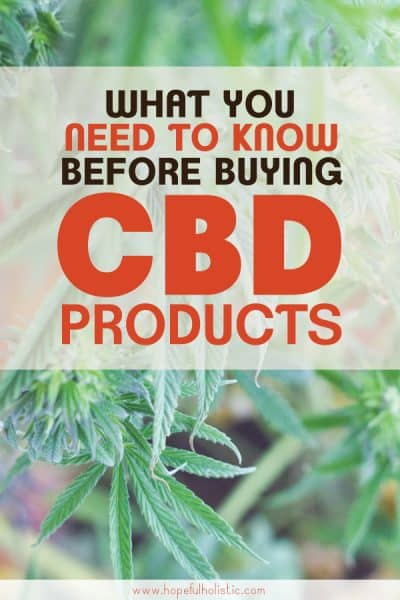 Hemp plant with text overlay- what you need to know before buying CBD products