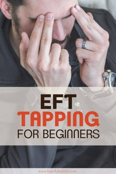 Man doing EFT tapping