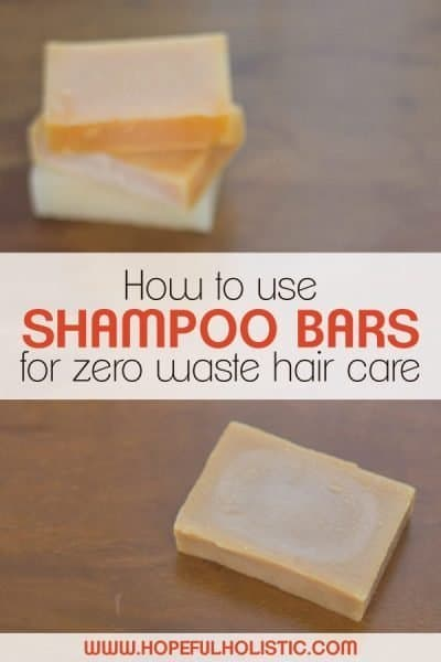 Shampoo bars with text overlay- how to use shampoo bars for zero waste hair care