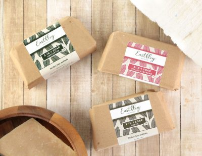 Earthley shampoo bars and soap bars