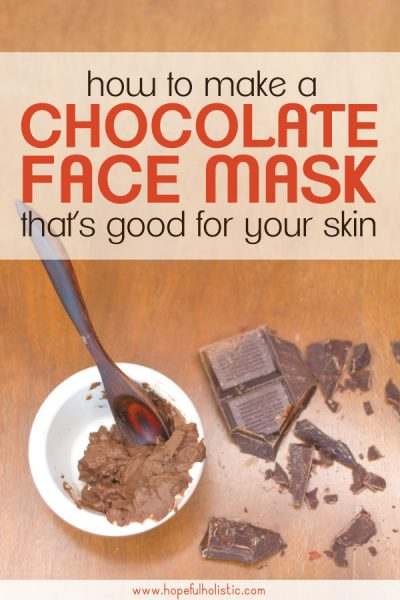 Cacao facial mask mix with chocolate and text overlay- chocolate face mask that's good for your skin
